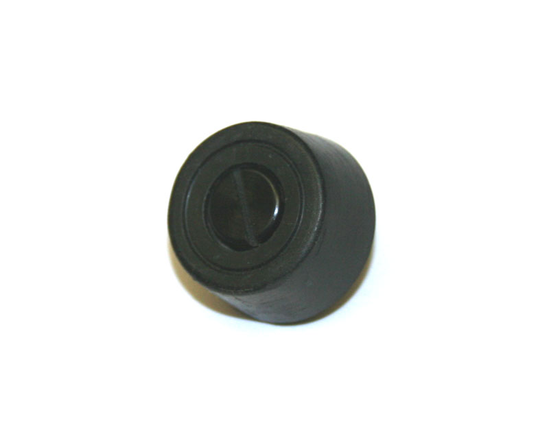Rubber foot, 3/8-inch tall, with lock pin