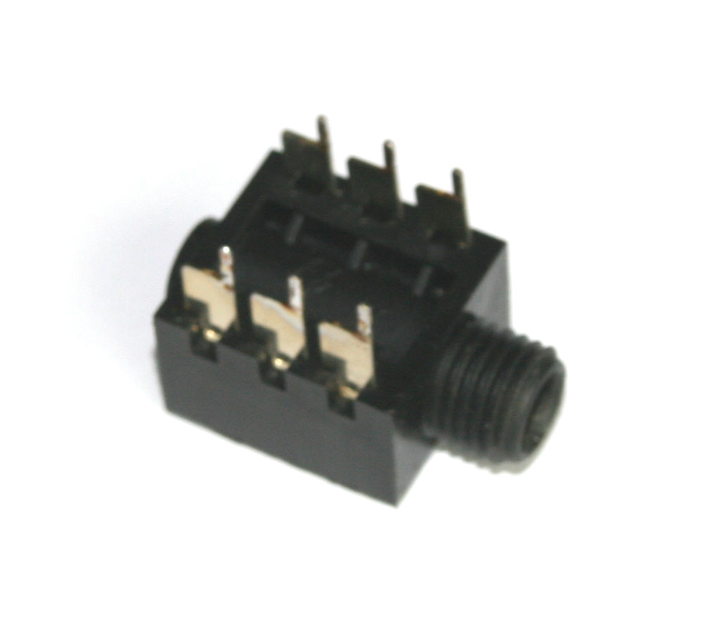 Phone jack, 1/4-inch, 6-pin PCB mount